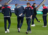 Bolton Wanderers' Joe Williams inspecting the pitch before the match<br /> <br /> Photographer Andrew Kearns/CameraSport<br /> <br /> The EFL Sky Bet Championship - Wigan Athletic v Bolton Wanderers - Saturday 16th March 2019 - DW Stadium - Wigan<br /> <br /> World Copyright &copy; 2019 CameraSport. All rights reserved. 43 Linden Ave. Countesthorpe. Leicester. England. LE8 5PG - Tel: +44 (0) 116 277 4147 - admin@camerasport.com - www.camerasport.com