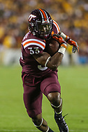 Landover, MD - September 3, 2017: Virginia Tech Hokies running back Deshawn McClease (33) runs the ball during game between Virginia Tech and WVA at  FedEx Field in Landover, MD.  (Photo by Elliott Brown/Media Images International)