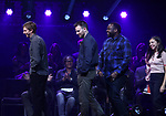 Michael Cera, Chris Evans, Brian Tyree Henry and Bel Powley during the Second Stage Theater Broadway lights up the Hayes Theatre at the Hayes Theatre on February 5, 2018 in New York City.