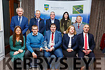 Damien Fleming from Killarney receiving his Kerry County Council and Municipal District Awards pictured with members of the Killarney Municipal District at the ceremony in the Rose Hotel on Thursday night.