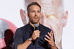 Canadian actor Ryan Reynolds speaks during the Japan Premiere for his film Deadpool 2 on May 29, 2018, Tokyo, Japan. The second installment of the Marvel hit movie will be released in Japan onJune 1st. (Photo by Rodrigo Reyes Marin/AFLO)