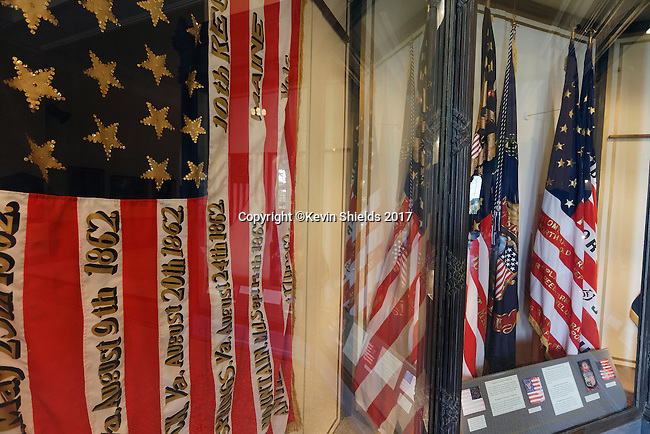 The Hall of Flags, Augusta, Maine, USA