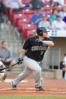 Kane County Cougars first baseman Dan Vogelbach #3 bats during a game against the Cedar Rapids Kernels at Veterans Memorial Stadium on June 8, 2013 in Cedar Rapids, Iowa. (Brace Hemmelgarn/Four Seam Images)