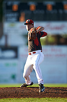 Batavia Muckdogs starting pitcher Michael Mertz (26) during a game against the Hudson Valley Renegades on August 1, 2016 at Dwyer Stadium in Batavia, New York.  Hudson Valley defeated Batavia 5-1. (Mike Janes/Four Seam Images)