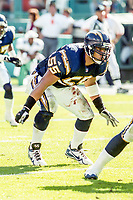 MIAMI, FL - DEC 19, 1999:  Junior Seau, #55, is shown on the field as the Miami Dolphins defeat the San Diego Chargers 12-9 at Joe Robbie Stadium, in Miami, FL. (Photo by Brian Cleary/www.bcpix.com)