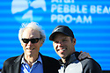 Clint Eastwood and Paul Casey (ENG) at prize giving after the final round of the AT&T Pro-Am , Pebble Beach Golf Links, Monterey, USA. 11/02/2019<br /> Picture: Golffile | Phil Inglis<br /> <br /> <br /> All photo usage must carry mandatory copyright credit (© Golffile | Phil Inglis)