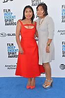 SANTA MONICA, CA. February 23, 2019: Yalitza Aparicio & Nancy Garcia at the 2019 Film Independent Spirit Awards.<br /> Picture: Paul Smith/Featureflash