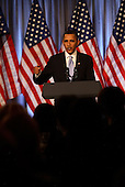 United States President Barack Obama delivers remarks at a Democratic National Committee (DNC) fundraising dinner at the National Museum of Women in the Arts in Washington, D.C. on Thursday, February 4, 2010..Credit: Martin H. Simon - Pool via CNP
