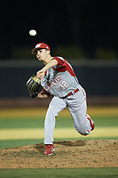 Sacred Heart Pioneers relief pitcher Michael Attonito (32) in action against the Wake Forest Demon Deacons at David F. Couch Ballpark on February 15, 2019 in  Winston-Salem, North Carolina.  The Demon Deacons defeated the Pioneers 14-1. (Brian Westerholt/Four Seam Images)