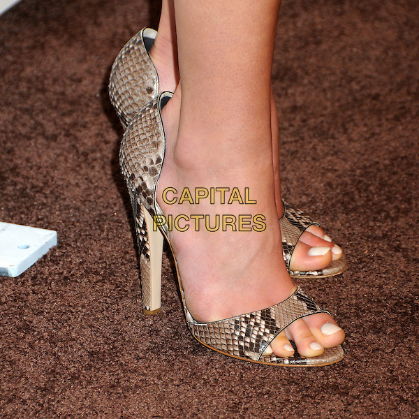 JORDANA BREWSTER's shoes .TOD's Beverly Hills Boutique Launch Celebration held at TOD's Boutique, Beverly Hills, California, USA, .15th April 2010..detail snakeskin snake beige open toe heels shoes .CAP/ADM/BP.©Byron Purvis/AdMedia/Capital Pictures.