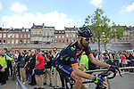 Spanish National Champion Jesus Herrada (ESP) Movistar Team at sign on in Verviers before the start of Stage 3 of the 104th edition of the Tour de France 2017, running 212.5km from Verviers, Belgium to Longwy, France. 3rd July 2017.<br /> Picture: Eoin Clarke | Cyclefile<br /> <br /> <br /> All photos usage must carry mandatory copyright credit (&copy; Cyclefile | Eoin Clarke)