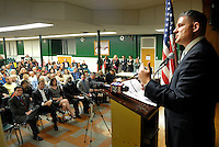 Assemblyman Lou Greenwald, D-6th of Maple Shade speaks during an interfaith prayer service at Our Lady of Perpetual Health Thursday, March 2, 2017 in Maple Shade, New Jersey. (Photo by William Thomas Cain)
