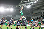 Connacht replacement Andrew Browne wins the line out ball.<br /> Guiness Pro12<br /> Ospreys v Connacht<br /> Liberty Stadium<br /> 31.10.14<br /> &copy;Steve Pope-SPORTINGWALES