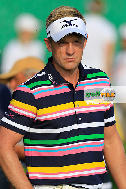 Luke Donald (ENG) on the 10th tee to start his match during Thursday's Round 1 of the 2016 U.S. Open Championship held at Oakmont Country Club, Oakmont, Pittsburgh, Pennsylvania, United States of America. 16th June 2016.<br /> Picture: Eoin Clarke | Golffile<br /> <br /> <br /> All photos usage must carry mandatory copyright credit (&copy; Golffile | Eoin Clarke)