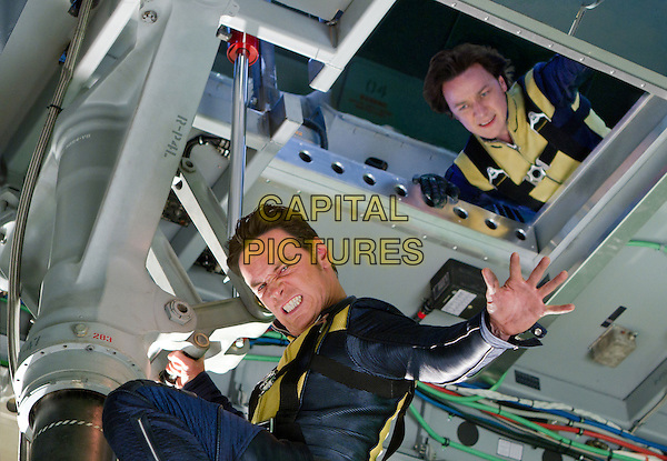 Michael Fassbender & James McAvoy.in X-Men: First Class.*Filmstill - Editorial Use Only*.CAP/PLF.Supplied by Capital Pictures.