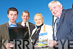 Pictured launching the Kingdom County fair website on Wednesday were Eamon Browne PRO, Jim Kelly, Mary Barry Organising Secetry, John Browne, Chairman Irish Shows Association.   Copyright Kerry's Eye 2008