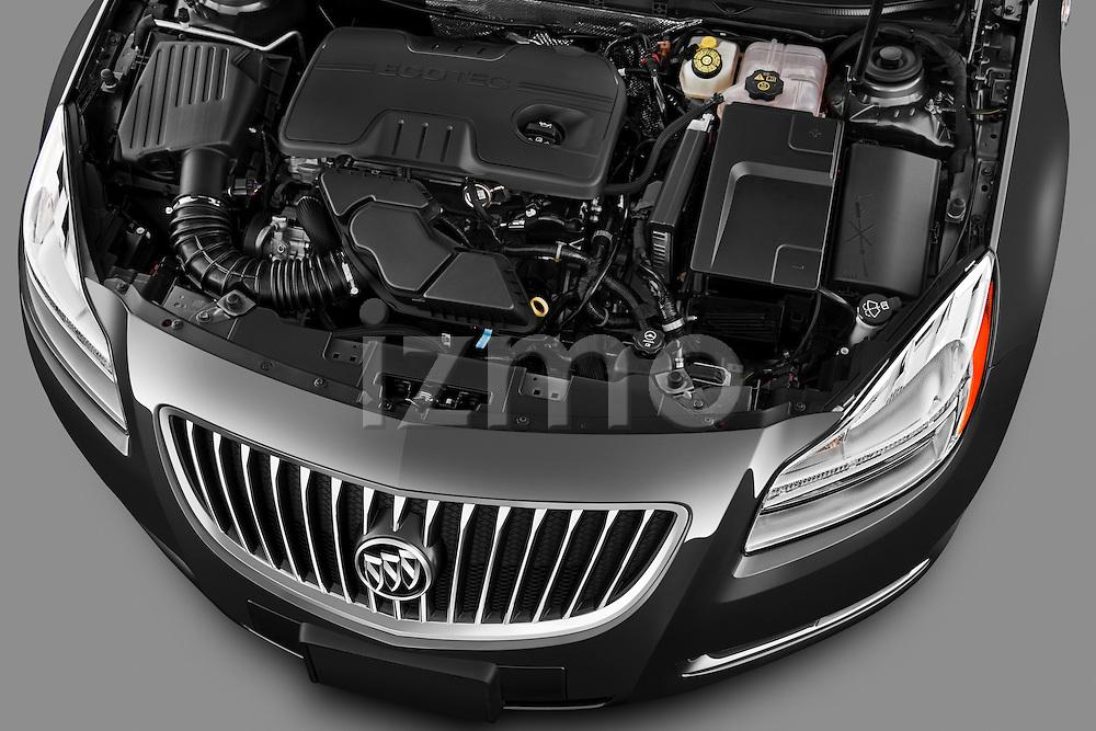 High angle engine detail of a 2011 Buick Regal CXL Sedan