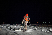 OutdoorLife Editor Andrew McKean (cq) carries his kill of a white tail deer in the night during a hunt in Grand Island, Nebraska, Saturday, December 3, 2011. ..Photo by Matt Nager