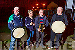 Athea musicians, Ger Quaid, Noreen O'Connor, Francie Flavin and Jimmy Kelly, getting ready for the Fleadh Cheoil.