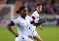 HOUSTON, TX - JANUARY 28: Christen Press #20 of the United States watches for the pass during a game between Haiti and USWNT at BBVA Stadium on January 28, 2020 in Houston, Texas.
