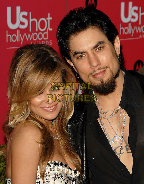 CARMEN ELECTRA & DAVE NAVARRO.The US Weekly Hot Hollywood Awards held at Republiccc Restaurant & Lounge in West Hollywood, California  .April 26th, 2006.Ref: DVS.headshot portrait necklace tattoos goatee facial hair husband wife married.www.capitalpictures.com.sales@capitalpictures.com.Supplied By Capital PIctures