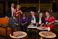 Orlando, FL - Saturday February 10, 2018: Anniversary Dinner Reception, Participants, Debbie Wasenhofer, Andrew Grizzle, Peggy Polly-Grizzle during U.S. Soccer's Annual General Meeting (AGM) at the Renaissance Orlando at SeaWorld.