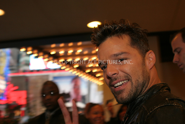WWW.ACEPIXS.COM . . . . . ....November 2006, New York City. ....Ricky Martin Stops by the MTV's TRL Studios.  ....Please byline: NANCY RIVERA- ACE PICTURES.... *** ***..Ace Pictures, Inc:  ..Philip Vaughan (212) 243-8787 or (646) 769 0430..e-mail: info@acepixs.com..web: http://www.acepixs.com