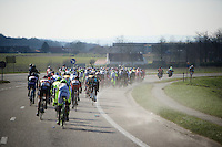 a very cold wind swept through the peloton for most of the day<br /> <br /> Kuurne-Brussel-Kuurne 2016