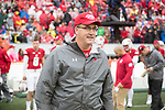 Wisconsin Badgers Head Coach Paul Chryst looks on during an NCAA College Football Big Ten Conference game against the Purdue Boilermakers Saturday, October 14, 2017, in Madison, Wis. The Badgers won 17-9. (Photo by David Stluka)