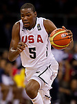 30.08.2010, Abdi Ipekci Arena, Istanbul, TUR, 2010 FIBA World Championship, USA vs Brasil, im Bild .Kevin Durant  of USA during the Preliminary Round - Group B basketball match. EXPA Pictures © 2010, PhotoCredit: EXPA/ Sportida/ Vid Ponikvar *** ATTENTION *** SLOVENIA OUT!