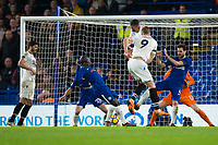 Crystal Palace's Alexander Sorloth puts the ball in the back of the net but it's disallowed <br /> <br /> Photographer Craig Mercer/CameraSport<br /> <br /> The Premier League - Chelsea v Crystal Palace - Saturday 10th March 2018 - Stamford Bridge - London<br /> <br /> World Copyright &copy; 2018 CameraSport. All rights reserved. 43 Linden Ave. Countesthorpe. Leicester. England. LE8 5PG - Tel: +44 (0) 116 277 4147 - admin@camerasport.com - www.camerasport.com