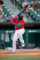 Buffalo Bisons Anthony Alford (7) at bat during a game against the Scranton/Wilkes-Barre RailRiders on May 18, 2018 at Coca-Cola Field in Buffalo, New York.  Buffalo defeated Scranton/Wilkes-Barre 5-1.  (Mike Janes/Four Seam Images)