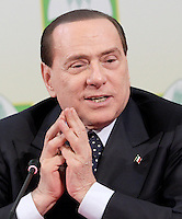 Il leader del Popolo della Liberta' Silvio Berlusconi incontra la Coldiretti a Roma, 15 febbraio 2013..Italian center-right People of Freedom party's leader Silvio Berlusconi attends a meeting with the Coldiretti agricultural organization in Rome, 15 February 2013..UPDATE IMAGES PRESS/Riccardo De Luca