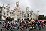 The peloton on the finishing circuit in Madrid during Stage 2 of the Ceratizit Madrid Challenge by La Vuelta 2019 running 98.6km around Madrid, Spain. 15th September 2019.<br /> Picture: Luis Angel Gomez/Photogomezsport | Cyclefile<br /> <br /> All photos usage must carry mandatory copyright credit (© Cyclefile | Luis Angel Gomez/Photogomezsport)