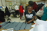 Student designers preparing outfits before the William H. Maxwell CTE High School Mode 17 fashion show on June 16, 2017.