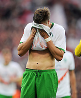 FUSSBALL   1. BUNDESLIGA   SAISON 2011/2012    2. SPIELTAG Bayer 04 Leverkusen - SV Werder Bremen              14.08.2011 Sebastian PROEDL (Bremen) ist nach dem Abpfiff enttaeuscht