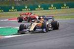 12.07.2019, Silverstone Circuit, Silverstone, FORMULA 1 ROLEX BRITISH GRAND PRIX 2019<br /> , im Bild<br />Carlos Sainz Jr. (SPA#55), McLaren F1 Team, Sebastian Vettel (GER#5), Scuderia Ferrari Mission Winnow<br /> <br /> Foto © nordphoto / Bratic