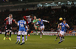 Simon Moore of Sheffield Utd joins the attack along with Ethan Ebanks-Landell of Sheffield Utd during the English League One match at Bramall Lane Stadium, Sheffield. Picture date: November 29th, 2016. Pic Simon Bellis/Sportimage