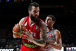 United States´s Thompson (R) and Serbia´s Raduljica during FIBA Basketball World Cup Spain 2014 final match between United States and Serbia at `Palacio de los deportes´ stadium in Madrid, Spain. September 14, 2014. (ALTERPHOTOSVictor Blanco)