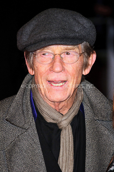 WWW.ACEPIXS.COM . . . . .  ..... . . . . US SALES ONLY . . . . .....February 1 2011, London....John Hurt at the UK Film Premiere of 'Brighton Rock' at the Odeon West End on February 1 2011 in London....Please byline: FAMOUS-ACE PICTURES... . . . .  ....Ace Pictures, Inc:  ..Tel: (212) 243-8787..e-mail: info@acepixs.com..web: http://www.acepixs.com