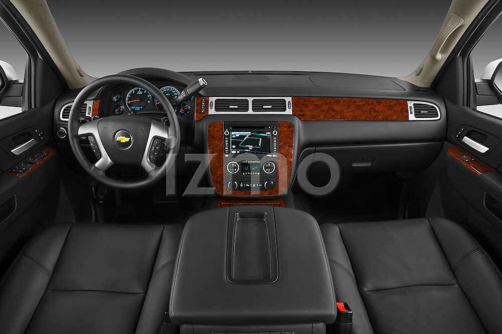 Straight dashboard view of a 2012 Chevrolet Suburban LTZ