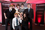 Real Business Challenge 2011.The winning team from St Davids College Llandudno with Coca-Cola Regional Director Mark Dewhurst..25.11.11.©Steve Pope