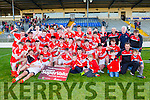 Daingean Uí Chúis team and management celebrate winning the County Minor championship after defeating Mid Kerry in the final in Fitzgearald Stadium on Sunday