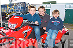 QUAD BROTHERS: Brothers Liam, Jack and Cormac Patterson, Causeway enjoying the quad bikes at the Kingdom County Fair on Sunday.