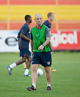 Head Coach Bob Bradley. Stadium Training prior to FIFA World Cup qualifiers USA vs El Salvador at Estadio Cuscatlán Stadium  on March 27, 2009.