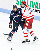 Shawn Pauly (UConn - 9), Brien Diffley (BU - 20) - The Boston University Terriers defeated the visiting University of Connecticut Huskies 4-2 (EN) on Saturday, October 24, 2015, at Agganis Arena in Boston, Massachusetts.
