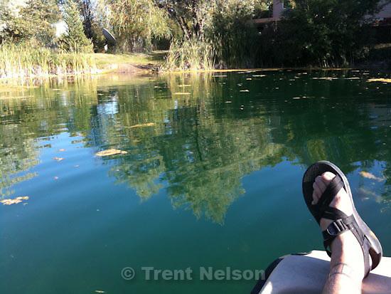 . Saturday, September 12 2009.trent feet on pond at godfrey's