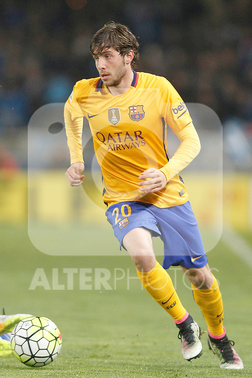FC Barcelona's Sergi Roberto during La Liga match. April 9,2016. (ALTERPHOTOS/Acero)