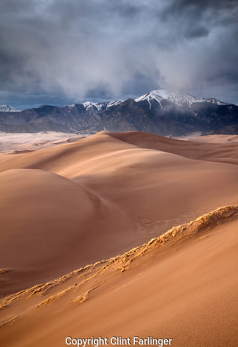 Dunefield and Sangre De Cristo Mountains, Great Sand Dunes National Park, Colorado
