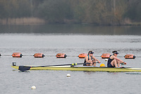 Caversham. Berkshire. UK<br /> Bow Maddie BADCOTT and Lauren KEDAR, competing at the  2016 GBRowing U23 Trials at the GBRowing Training base near Reading, Berkshire.<br /> <br /> Monday  11/04/2016 <br /> <br /> [Mandatory Credit; Peter SPURRIER/Intersport-images]